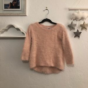 Old Navy Fluffy Pink Tunic Sweater